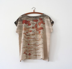silk top (red2white) Tags: uk plants print scotland highlands with natural handmade dyeing eco printed dyed naturally