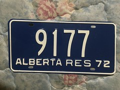 ALBERTA 1972 ---RESIDENT PLATE #9177 (woody1778a) Tags: woody licenseplate mytraders fortrade forsale tradelist numberplate woody1778 alpca collector