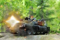 Enemy tank 300 stud. GUNNER FIRE! (oliverstrm) Tags: tank lego legotank