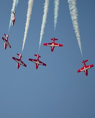 Snow Birds (paulgumbinger) Tags: ontario nikon aircraft aviation royal canadian airshow acrobatics trento airforce base trainer forces snowbirds canadair tutor quinte cfb ct114 d5100