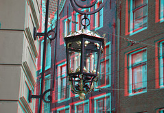 Lantern Metz & Co Amsterdam 3D (wim hoppenbrouwers) Tags: building lamp amsterdam facade 3d anaglyph stereo lantern keizersgracht gevel redcyan metzco