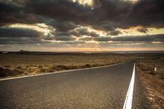 Road to Lanzarote... (Fabio Todeschini ) Tags: road roads lanzarote canarie canarian canary island sunset tramonto ocean atlantic fabiotode nikon sigma 1020 polar nd gnd haida lee filter clouds cloud sky sun raggio raggi islas strada strade prospective line famara cala caleta