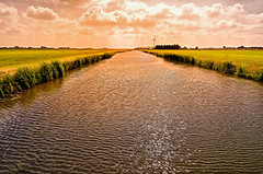 Just Now! (Alfred Grupstra Photography) Tags: sunlight windmill canal nederland pastures nl medemblik noordholland