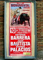 BCN Plaza de Toros (gerard eder) Tags: world barcelona city travel espaa poster spain europa europe catalonia ciudades viajes bullfight plakat catalua spanien affiche reise plazadetoros stierkampf