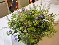 Meadow flowers table centre piece (The Flowersmiths Wedding Flowers) Tags: theflowersmiths tablearrangements kentweddingphotography kentweddingflorist weddingfloristinkent weddingflowers centerpieces wild meadowflowers meadowstyleflowers summerwedding hevercastlewedding