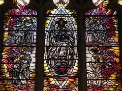 Christ in Glory, Leicester Cathedral (Aidan McRae Thomson) Tags: leicester cathedral church leicestershire stainedglass window artscrafts christopherwhall