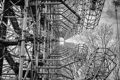 An engineers OCD (Flash and Blur) Tags: blackandwhite bw abandoned canon rust rusty symmetry symmetrical rusting radar chernobyl urbex pripyat industrialurbex duga3