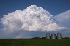 Puffy (Len Langevin) Tags: cloud canada storm rainbow nikon alberta cumulus prairie nikkor thunderhead d300 18300