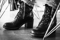 J179 (charlotte.boullier) Tags: projet365 365project 365days 35challenge challenge girl brunette feet shoes freelance boots friend student paris work canon beautiful dark weird strange photography blackandwhite monochrome people