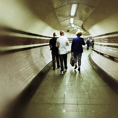 Commuters (deepexperience1) Tags: london station underground tube tunnel rushhour arsenal commuters