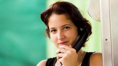 El Telefono (tomascasals) Tags: portrait woman black green public colors girl beautiful face hair phone retrato cuba telefono rostro sab publico sanantoniodelosbanos