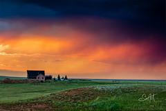 Little House on the Prarie (Travis Klingler (SivArt)) Tags: sunset smoke wyoming laramie