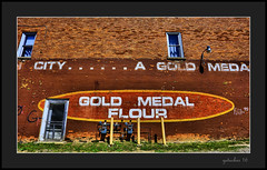 Gold Medal Flour (the Gallopping Geezer 3.7 million + views....) Tags: old sign wall mi canon paint michigan painted historic signage thumb flour backroads goldmedal hdr 1740 smalltown geezer ghostsign goldmedalflour 2016 5ds browncity