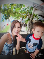 2016.6.22 MANGO SHAKE @ JONY'S Fruit Shakes (amydon531) Tags: trip travel family justin baby cute beach boys kids sisters island toddler brothers philippines mango shake boracay jarvis bffs