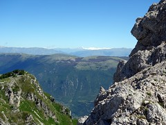 Corno Grande on the horizon from the cliffs beneath Pizzo Deta (markhorrell) Tags: walking lazio apennines montiernici
