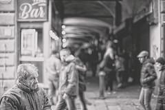 Mmmmmh... (-Makar79-) Tags: 6d canonef50mmf12lusm streetphotography blackandwhite people genova liguria italia vicoli sottoripa street centrostoricodigenova caruggi 50l