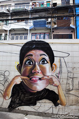 (by claudine) Tags: world streetart silly face architecture asian thailand interesting travels funny asia paint photos bangkok unique culture tourist spray exotic nightmarket thai attraction whimsical customs expat khaosanroad travelphotography nightbazaar byclaudine