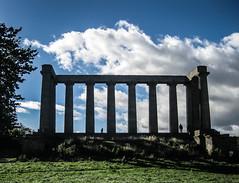 National monument of Scotland (Justgetdancey) Tags: uk greatbritain monument scotland edinburgh capital cenotaph caltonhill nationalmonument nationalmonumentofscotland