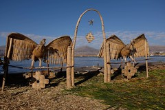 (Julien Falissard) Tags: city lake black peru uros titicaca nature port cat island boat chat eau floating lac ciel condor bateau roseaux ville puno les prou flottantes