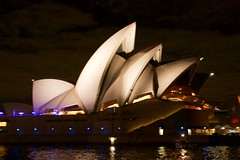 on the other side of the SOH (Val in Sydney) Tags: light house festival opera sydney vivid australia nsw australie