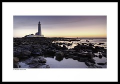 St Mary's Dawn (Mike Palmer Fauxtography. Mainly OFF) Tags: st marys lighthouse national trust tyne wear seascape landscape sea tide cloud rock lee filters nd grad graduated polariser canon eos 7d ef1735mm f28l usm north east england long exposure le michaelpalmer
