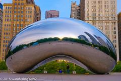 Chicago2016CloudGateMorning-0538 (wanderingYew2) Tags: sculpture chicago reflection sunrise illinois downtown milleniumpark publicart cloudgate