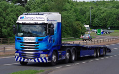 WS Transportation Scania R450 PN16OSJ on the A90, Dundee, 20/6/16 (andyflyer) Tags: transport lorry a90 haulage hgv roadtransport scaniar450 wstransportation pn16osj