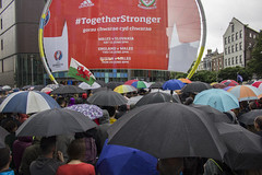 Umbrellas at the Cardiff For Europe event, 28th June 2016 (Dai Lygad) Tags: umbrellas summer wales cardiff cf4eu rain weather cardiffforeurope wet june europe referendum eu eureferendum european europeanreferendum togetherstronger gorauchwaraecydchwarae red stockphoto stockimage picture image photo photograph dailygad jeremysegrott flickr brexit paysdegalles pasdegales