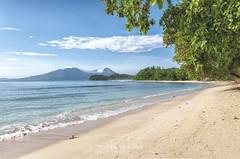 Sulawesi: Beach Pulisan Jungle Beach Resort (Exper!ence it) Tags: beach beauty coral indonesia paradise hiking resort snorkeling jungle canoeing reef sulawesi boattour menado