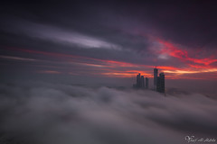 Dreamy day (Yousef Al-Habshi) Tags: abu dhabi fog sunset towers skyscrapers uae emirate sky nikon d800e yousef al habshi