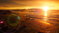 2016 - Landscape - Sunset - Largs - 02_24_05.jpg (stevenlazar) Tags: ocean sunset beach clouds waves jetty australia adelaide southaustralia largs 2016