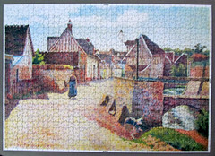 Village near Lagny (pefkosmad) Tags: unicef charity art painting hobby puzzle leisure jigsaw complete pastime 1000pieces lucienpissarro villagenearlagny