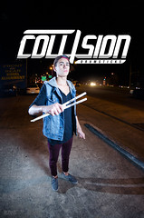 Jordan Higgins for Collision Drumsticks (pjpantelis) Tags: portrait music photography this promo post band jordan hardcore higgins bigpants endorsement drumsticks collision fiasco pjpantelis