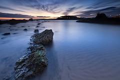 (Juan Jose Herrero Garcia) Tags: mar pentax sigma playa amanecer nubes 1020 rocas cantabria k5 jajo cantabrico elcamello juanjoseherrerogarcia