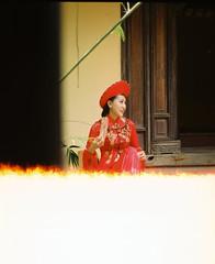 Pretty bride (Pankha Nikon) Tags: portrait film girl analog bride nikon vietnamese fuji vietnam problem analogue filmcamera fujisuperia nikonfm filmproblem