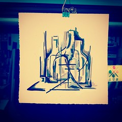 The Nightstand III (andrewrust) Tags: abstract art night pen ink studio drawing gesso penandink nightstand