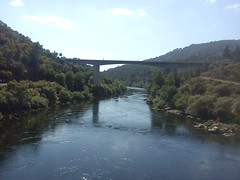 river minho (jbm7700) Tags: summer sky green nature water beautiful rio forest river puente spain europe sunny fresh bosque valley edge mio waterscape ribera minho orense brisge