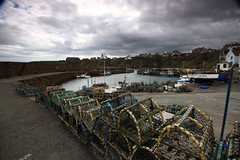 Crail, Fife (robertpack84) Tags: rain scotland harbour standrews lobsterpots crail