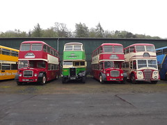 Four Rear Loaders (routemaster2345) Tags: bus museum vintage bristol day may scottish running east fs albion leyland lancs ecw lathalmond pd2 venturer lodekka 2013 cx19 svbm