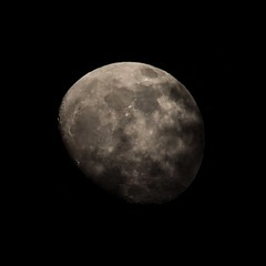 Cloudy Moon (StephenGA) Tags: moon waxinggibbous 2013 em5