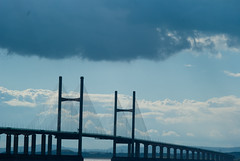 Second Severn Bridge (willumhg) Tags: uk bridge sea england wales river sony tide estuary severn a200