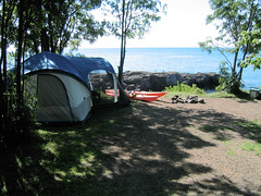 Lamb's campground site on Lake Superior
