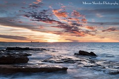 Port Hedland Sunset (maizydaizy) Tags: ocean sunset industry rock clouds ship pilbara porthedland