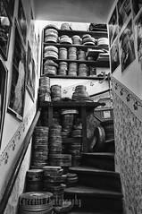 Josef Kazda's Stairwell (PorrelliPhotography) Tags: blackandwhite bw castle nikon prague stairwell josef goldenlane oldfashioned praguecastle d90 nikond90 josefkazda kazdas