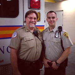 """The Captain in brown! """"Thank god you're here"""" #bostonems (Boston EMS Relief Association) Tags: instagram ifttt"""