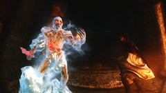 Fighting fire with ice ... (tend2it) Tags: game texture ice rock temple fire pc screenshot kate scenic xbox v pack rpg elder ash spawn raven mods enb dlc scrolls ps3 kenb secv salene solstheim dragonborn skyrim sweetfx tesv