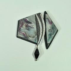 1ST SUCCESSFUL WATERCOLOR BROOCH (JanGeisen) Tags: brooch jewelry polymerclay jangeisen