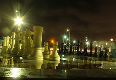 On account of World Chess Championship.. (Parthasarathy.S.K) Tags: nightphotography india canon photography chess slowshutter marinabeach chennai incredibleindia worldchesschampionship canoneos1100d