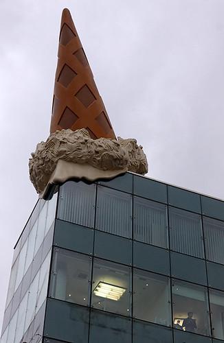 Ice cream on the roof