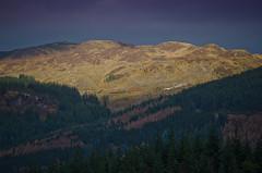 Dukes Pass (Aranthrue) Tags: autumn landscape pass sunlit trossachs dukes aberfoyle